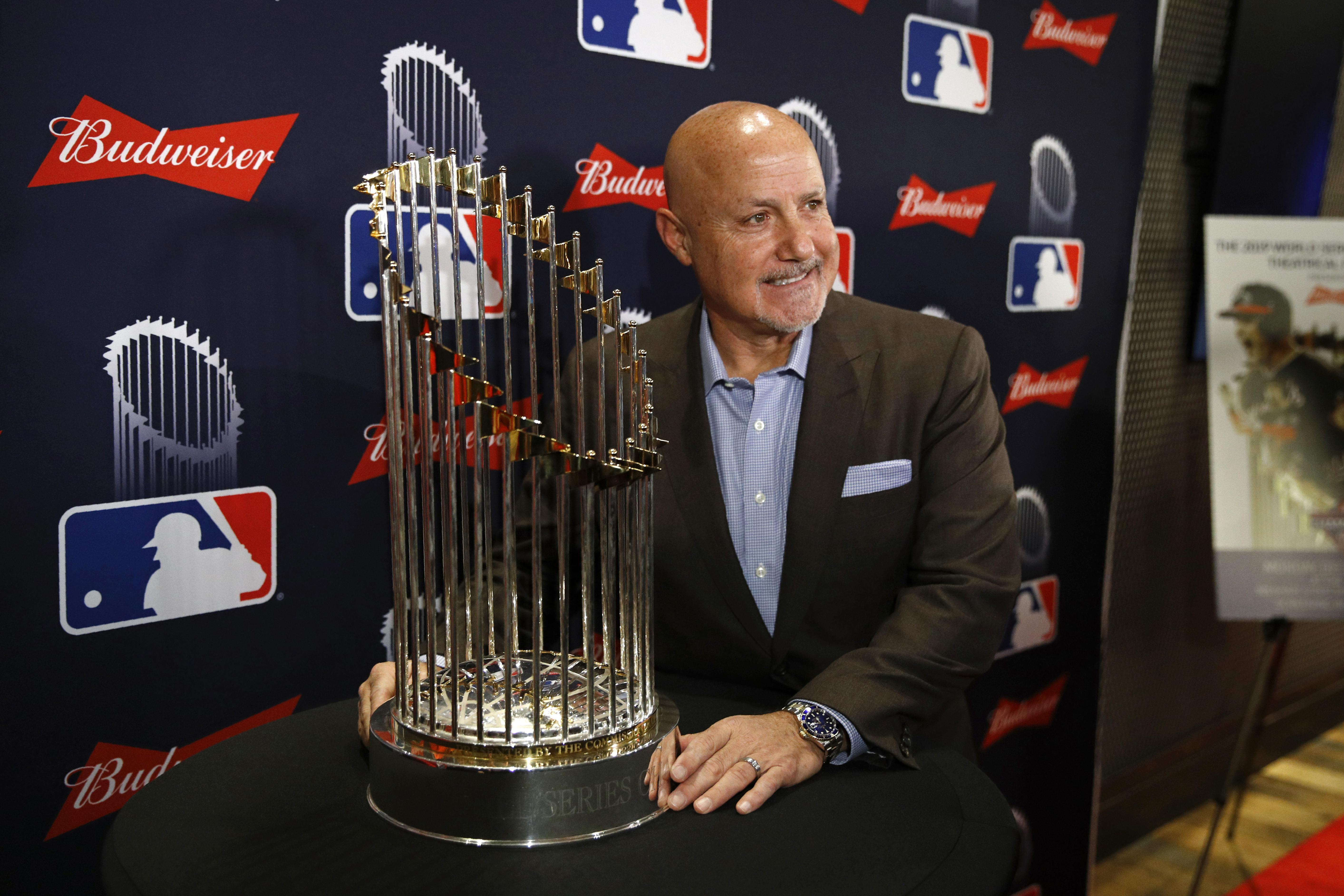 World Series trophy comes to the Pentagon