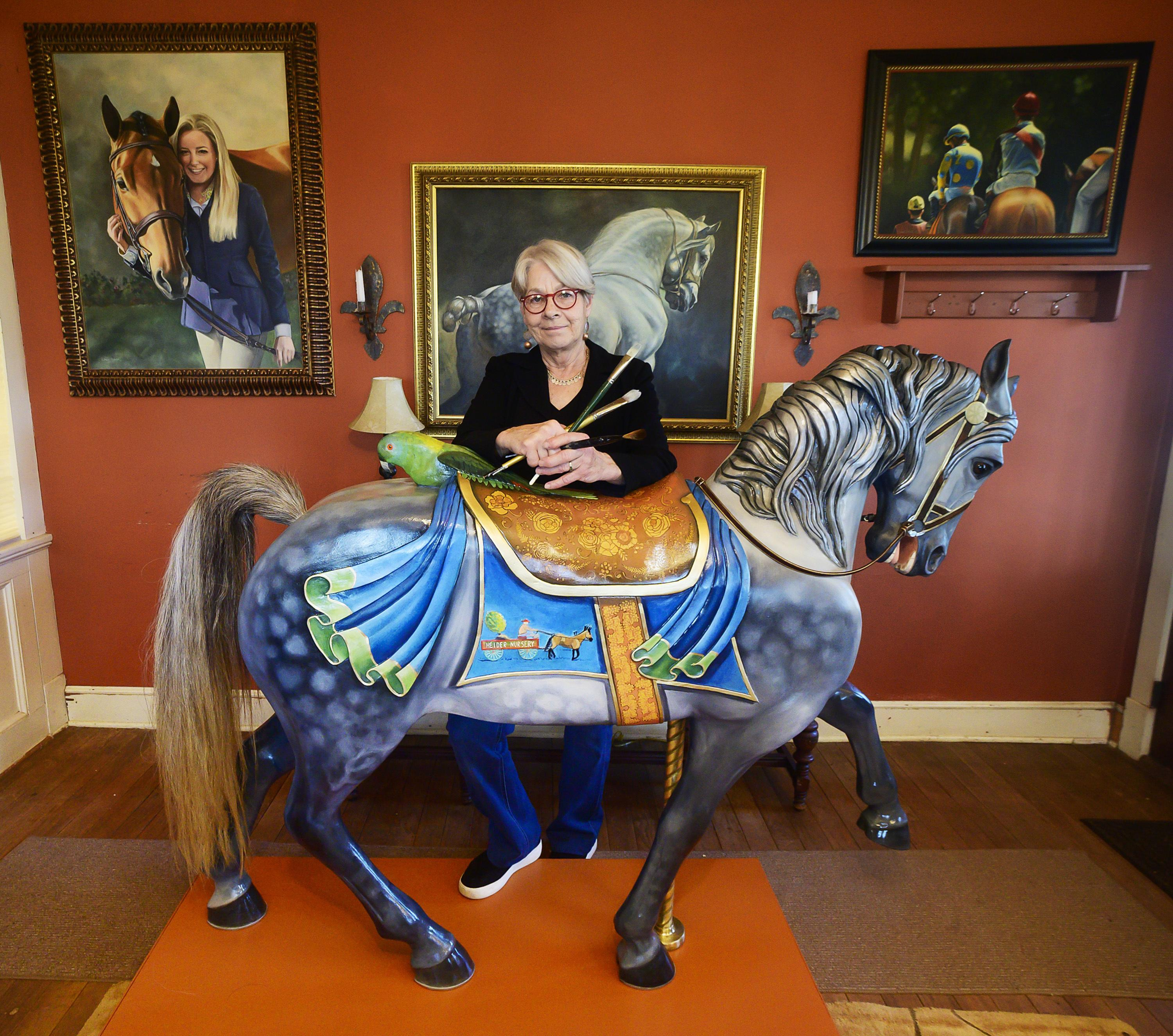 Artist Paints Carousel Horse To Fulfill Former Owner S Dream Washington Times