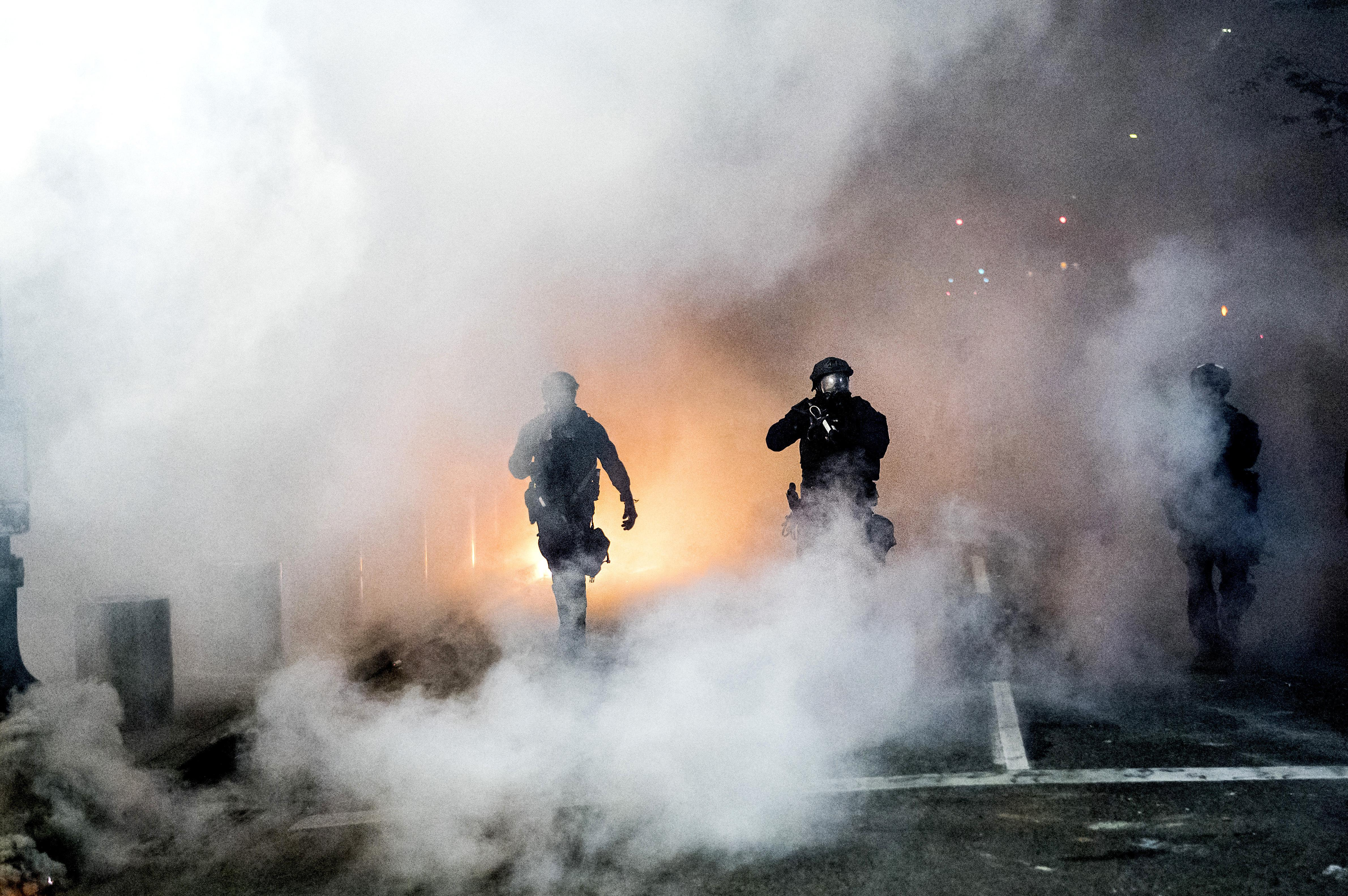 Facing Federal Agents Portland Protests Find New Momentum Washington Times